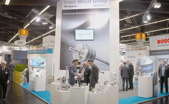Messestand der Franz Morat Group auf der SPS/IPC/Drives 2015 in Nürnberg